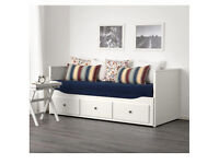 Day Bed that converts to Double Bed IKEA (Hermes) with Mattress and CoversLike New