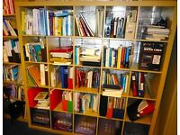 IKEA book shelf/room divider with storage boxes