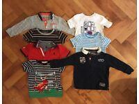 12-18 months boys clothes bundle. T-Shirts, Shirts, Vests, Onesies, Trousers, Dungarees