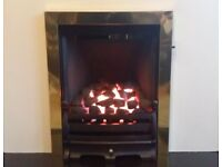 Charlton and Jenrick Paragon One 3.7 Kw Inset Gas Fire (Brass/Black)