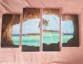 4 piece picture new