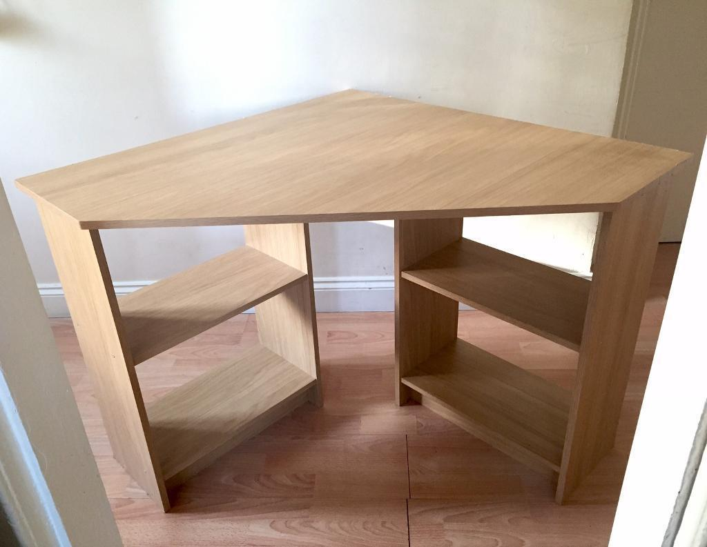 Corner Desk (Delivery Availablein Knightswood, GlasgowGumtree - Very sturdy light wood corner desk in good condition.Delivery Available!Sides 90x90cm Front 86cmHeight 72cmPlease see my other ads )