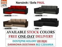 BRAND NEW SOFA BED & SOFA CORNER BED SLEEP FUNCTION SPRINGS 2 STORAGES 12 COLORS FREE 1-DAY DELIVERY