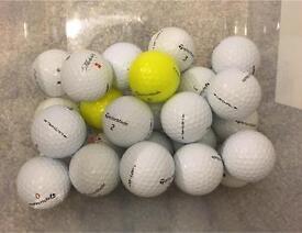 25 TaylorMade Grade A golf balls