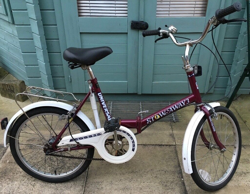 FOLDING BIKE UNIVERSAL STOW AWAY 3 GOOD CONDITION PLEASE VEIW ALL PHOTO