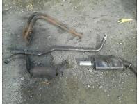 Ford Escort mk4 xr3i sportex exhaust system and 4 branch manifold