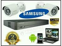 SAMSUNG 2 Camera FULL HD 1080p CCTV IP System complete DIY kit