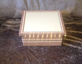 Rose Gold Wedding cake stand with lights and diamantes