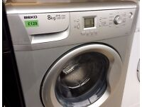 BEKO Silver 8KG, A+A, 1200, LCD Display, WASHING MACHINE + 3 Month Guarantee + FREE LOCAL DELIVERY