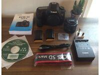 Canon 5D Mark III DSLR with lens