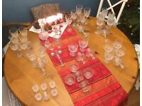 Crystal Wine Glasses etc
