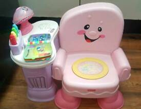 Activity chair for baby girl