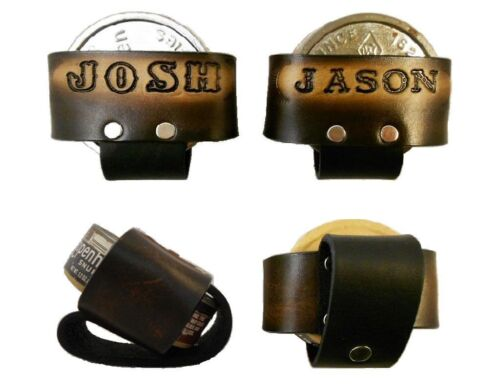 Custom Handcrafted Leather Snuff Can Holder, Chewing Tobacco Case Names Initials