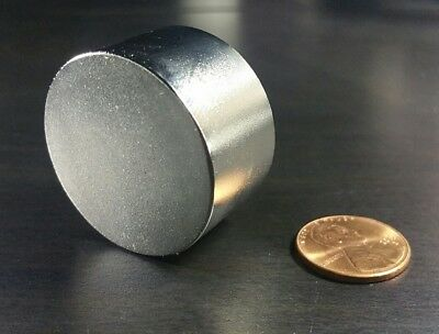 One 1 Large Neodymium N52 Cylinder Magnet Super Strong Rare Earth 36mm Disc