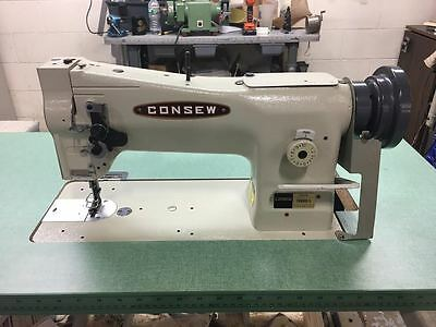 Consew 206rb-5 Industrial Sewing Machine W American Made Wood Green Top Table