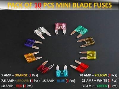 11mm x 15mm o//e spec fits SUZUKI 10 x Mini Blade Fuses 10A 10 Amp