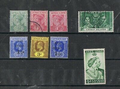 CAYMAN ISLANDS - Lot of old stamps