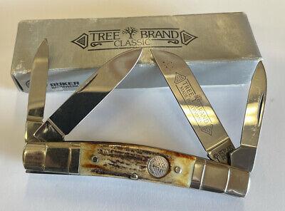 VINTAGE BOKER USA 6113 FOLDING 4 BLADE CONGRESS POCKET KNIFE TREE BRAND KNIVES