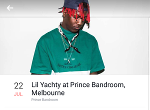 LIL YACHTY MELBOURNE TICKETS - GA Endeavour Hills Casey Area Preview