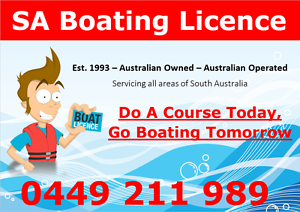 Adelaide Boating Licence - SUNDAY 26/3 Adelaide CBD Adelaide City Preview