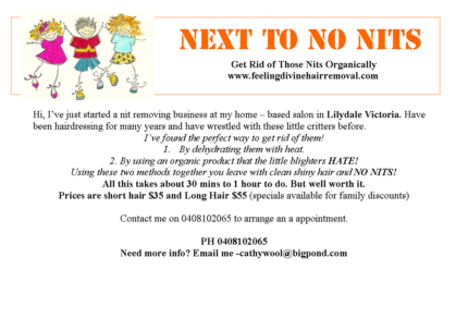 Next to No Nits Lilydale