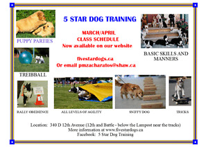 MARCH DOG CLASSES