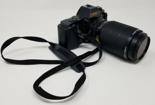 Canon T50 Camera 35mm FB 75-200mm 1 4.5 Tested Works  - $31.00