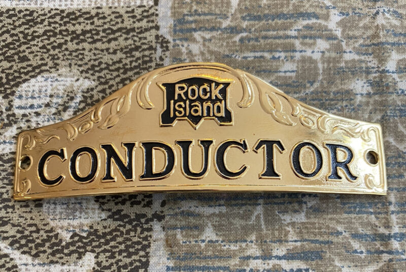 Rock Island Conductor Hat Badge.