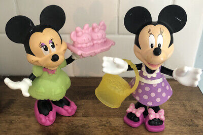 Fisher Price Minnie Mouse Snap N Style Beach Cupcake Bowtique 2 Dolls 5""