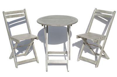 Balkonset 3-teilig Bistroset Gartenmöbel Sitzgruppe Tisch und 2 Stühle
