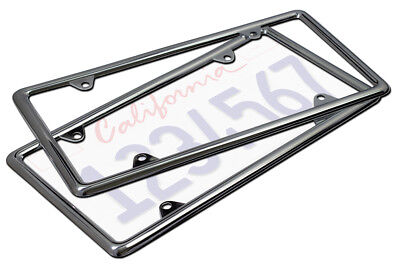 OxGord Metal License Plate Frame HD Stainless Steel Chrome Car SUV Van Truck_B