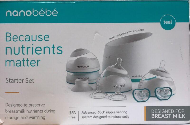 nanobebe Baby Bottle Newborn Feeding Starter Gift Set - NEW