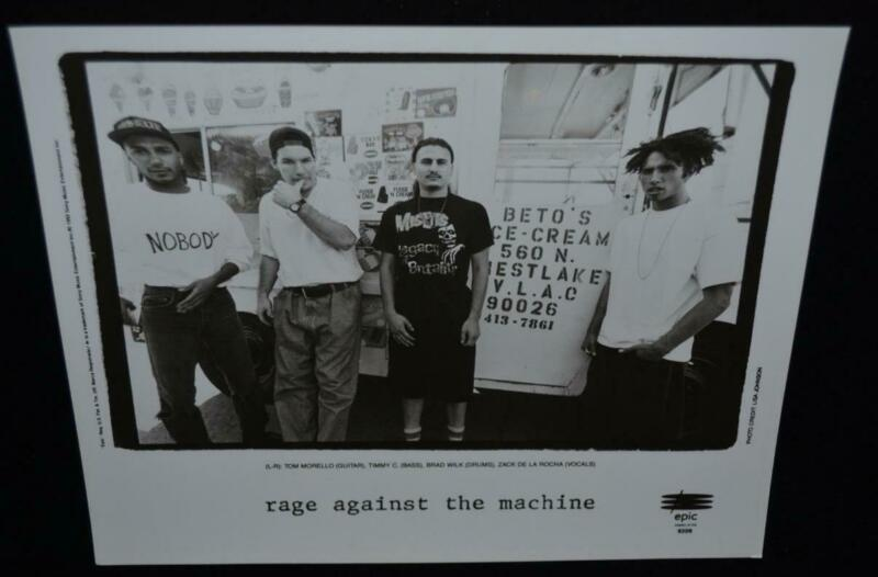 RAGE AGAINST THE MACHINE Original 1992 US Promo Publicity Press 8 x 10 Photo