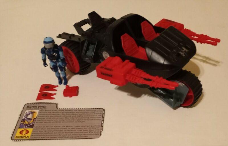 1986 Hasbro G.I. Joe A.R.A.H. - Cobra S.T.U.N. W/ Motor Viper NEAR COMPLETE