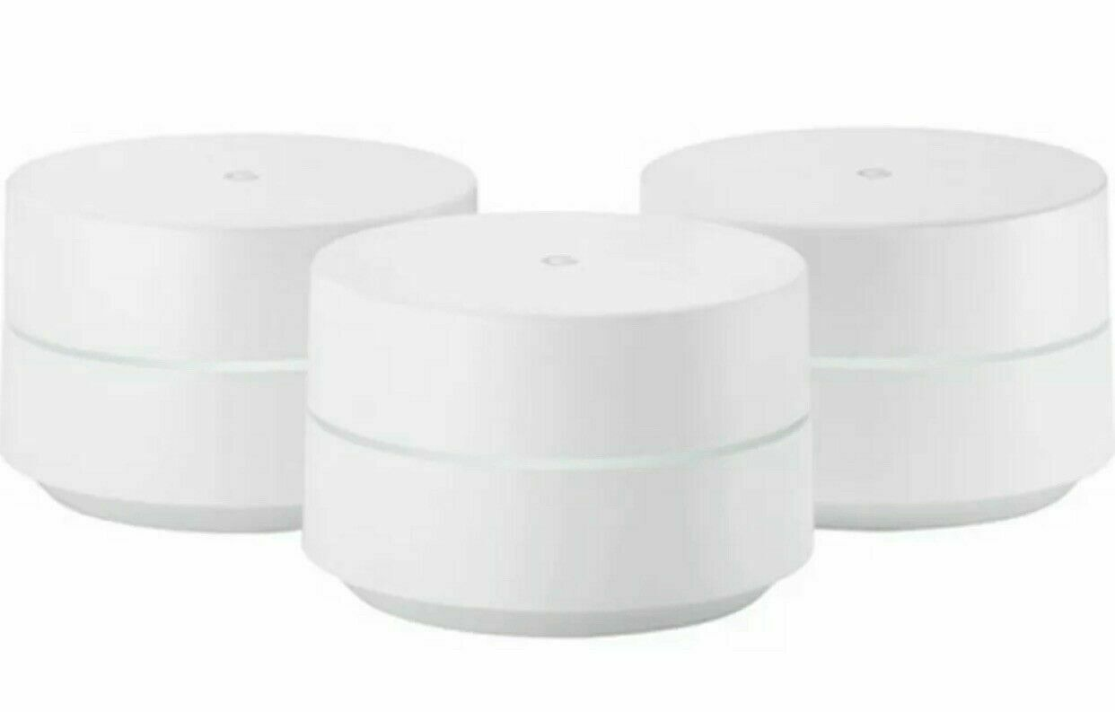 Google WiFi 3 Pack Dual-Band Mesh Router NEW SEALED NLS-1304