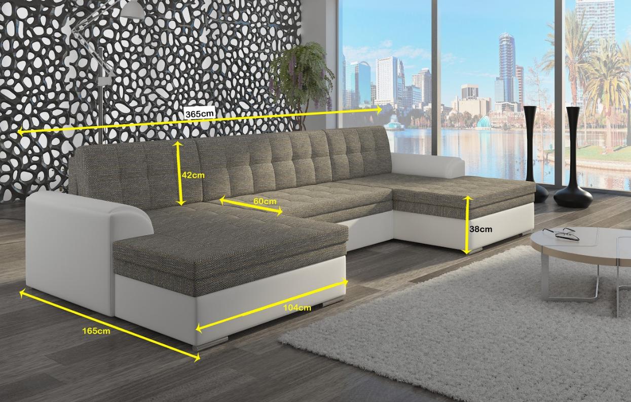 Ecksofa Sofa Polster Couch Wohnlandschaft U Form