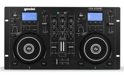 Gemini Dual CD/USB Media Player Mixer Console with Bluetooth Input
