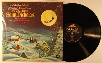 Richard Kiley A Visit From St. Nicholas / Christmas Songs LP NM MGM PM-30 shrink