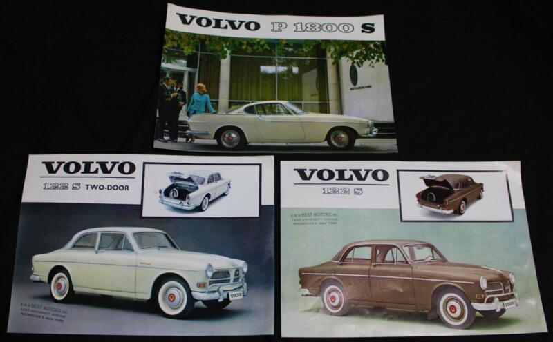 3 VOLVO AUTOMOBILE CAR SPECIFICATIONS ADVERTISING CHARTS 1962 & 1963 VINTAGE