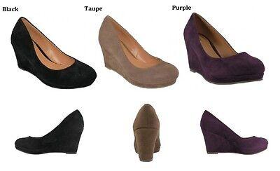 Womens Fashion Platform Wedge Suede High Heel Shoes  6 7 7.5 8 8.5 9 9.5 10 (Womens High Fashion)