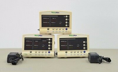 Lot Of 3 Welch Allyn 52000 Vital Signs Patient Monitor 109081159011983 A12