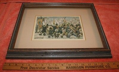 Vintage Framed Anton Pieck 3D Matted Art Marching Band 1972 DAC NY