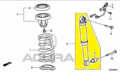 52610STXA55 Acura OEM 07-13 MDX Rear-Shock Absorber