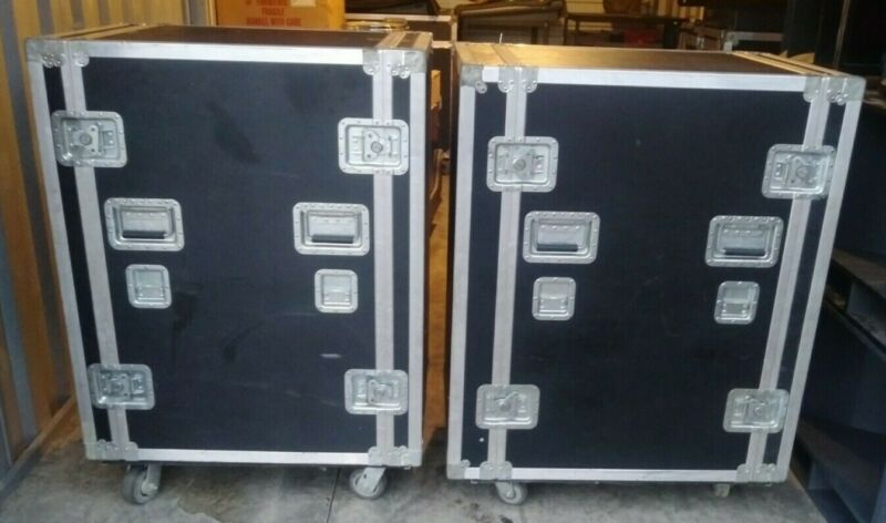 TWO Calzone shock mount racks or Workstation Cases case rack