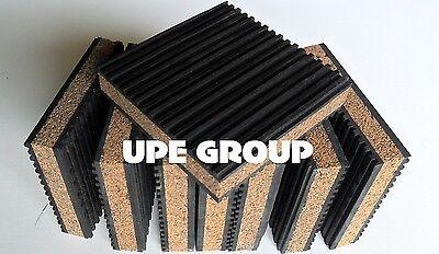8 Pack Anti Vibration Isolation Pad Rubbercork 4x4x78 Home Audio Speakers Hvac
