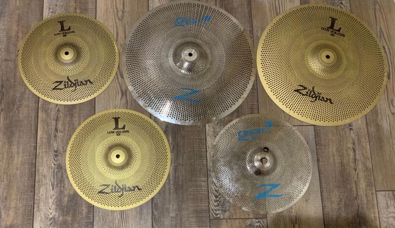 FIVE zildjian l80/Gen16 low volume cymbals