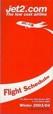 Jet2 Com System Timetable 10 26 03  5124   Buy 2 Get 1 Free