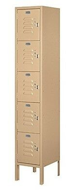 School Lockers Metal 5 High 12 In Square Boxes Tan Brown Five Feet High Standard