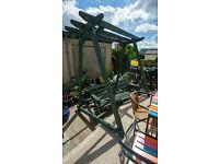 Very large garden arbor/pergola swing