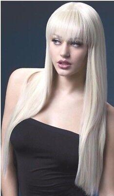 Parrucche donna lunga biondo bionda come capelli veri Lunga vera liscia  sexy 66c 744f5b369451